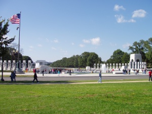 World War II Memorial from the east.
